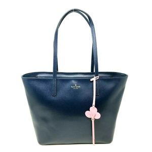 Kate Spade Kelsey Smooth Leather Blazer Blue Tote